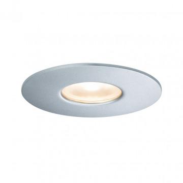 Встраиваемый светодиодный светильник Paulmann House Downlight 79666, IP44, LED 4,4W, серебро, металл