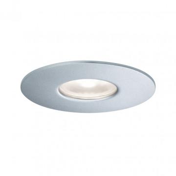 Встраиваемый светодиодный светильник Paulmann House Downlight 79667, IP44, LED 4,4W, серебро, металл