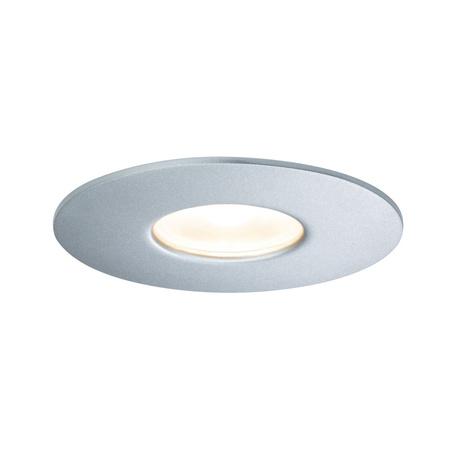 Встраиваемый светодиодный светильник Paulmann House Downlight 79668, IP44, LED 5,3W, серебро, металл