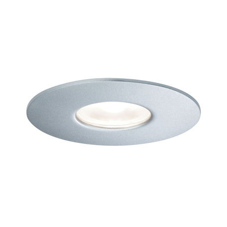 Встраиваемый светодиодный светильник Paulmann House Downlight 79669, IP44, LED 5,3W, серебро, металл