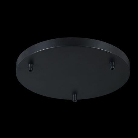 База для подвесного монтажа светильника Maytoni Universal Base SPR-BASE-R-03-B, черный, металл