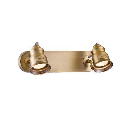 Настенный светильник с регулировкой направления света Maytoni Modern Borgo SP315-CW-02-BS, 2xGU10x50W, матовое золото, металл
