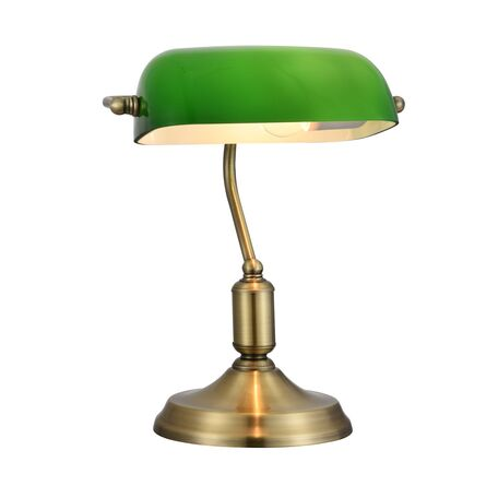 Настольная лампа Maytoni Kiwi Z153-TL-01-BS, 1xE27x40W, бронза, зеленый, металл, стекло