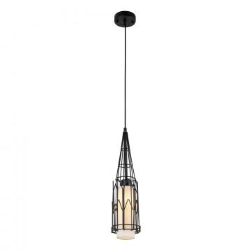 Подвесной светильник Maytoni City T192-PL-01-B, 1xE27x40W, черный, металл, текстиль