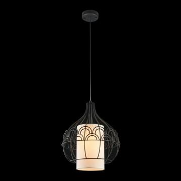 Подвесной светильник Maytoni City T194-PL-01-B, 1xE27x40W, черный, белый, металл, текстиль - миниатюра 3