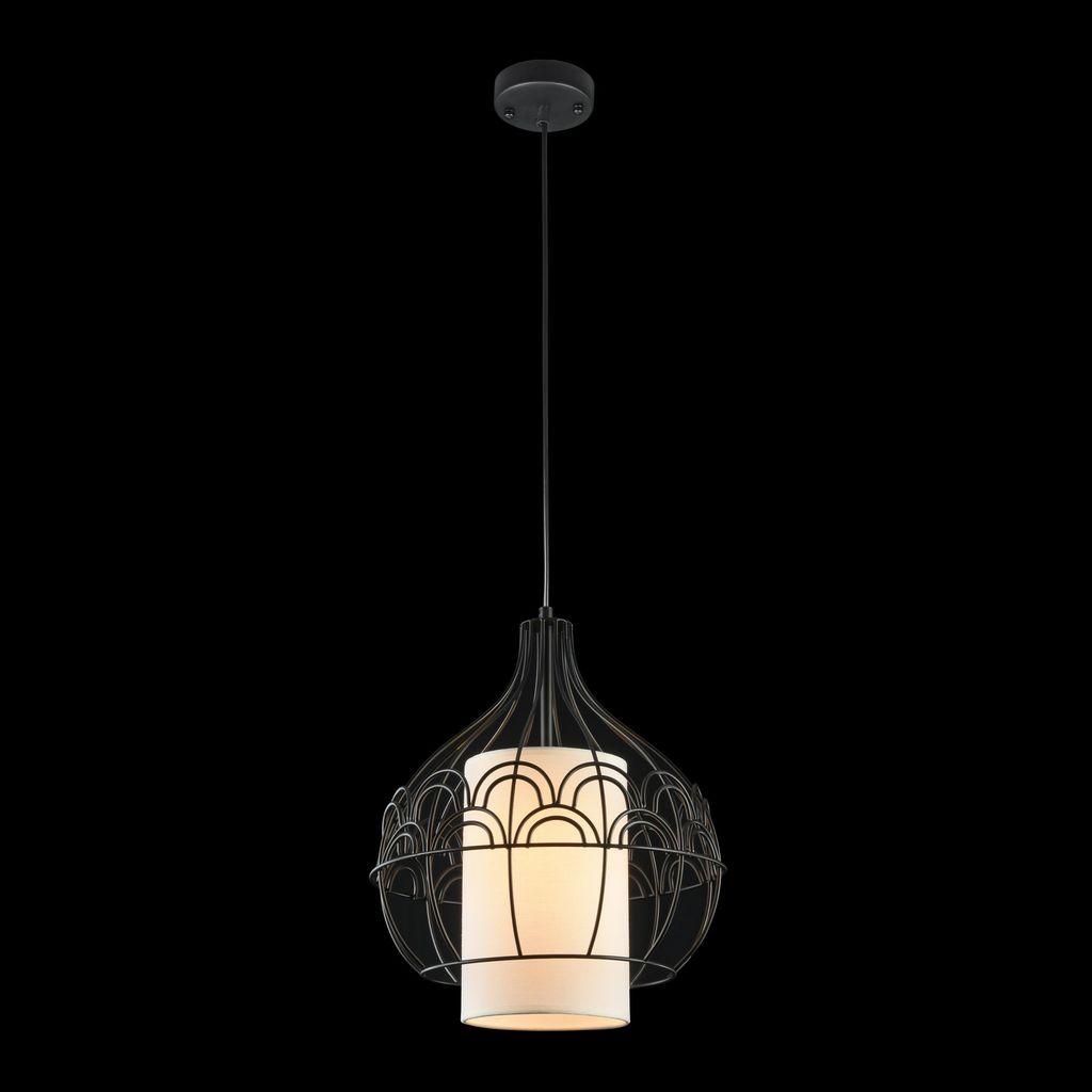 Подвесной светильник Maytoni City T194-PL-01-B, 1xE27x40W, черный, белый, металл, текстиль - фото 3