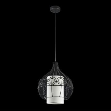 Подвесной светильник Maytoni City T194-PL-01-B, 1xE27x40W, черный, белый, металл, текстиль - миниатюра 4