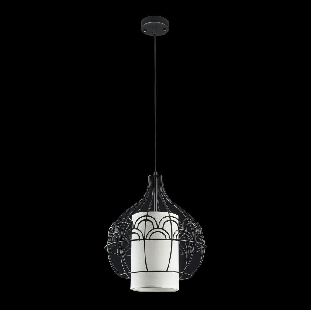 Подвесной светильник Maytoni City T194-PL-01-B, 1xE27x40W, черный, белый, металл, текстиль - фото 4