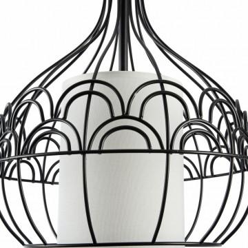 Подвесной светильник Maytoni City T194-PL-01-B, 1xE27x40W, черный, белый, металл, текстиль - миниатюра 6