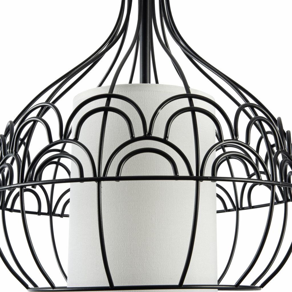 Подвесной светильник Maytoni City T194-PL-01-B, 1xE27x40W, черный, белый, металл, текстиль - фото 6
