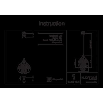 Схема с размерами Maytoni T194-PL-01-B