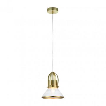 Подвесной светильник Maytoni Argo T268-PL-01-BS, 1xE27x60W, латунь, прозрачный, металл, стекло