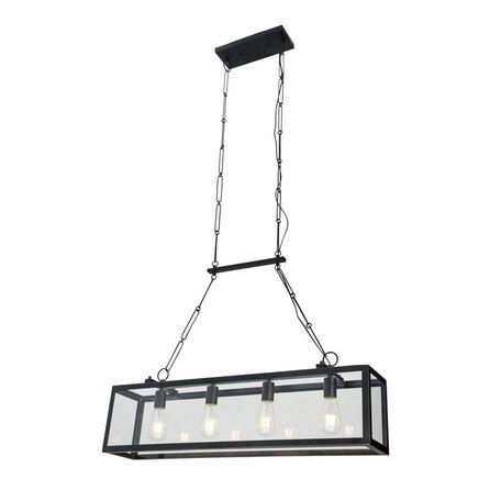 Подвесной светильник Maytoni Delphi T354-PL-04-B, 4xE27x60W, черный, прозрачный, металл, стекло - миниатюра 1