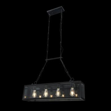 Подвесной светильник Maytoni Delphi T354-PL-04-B, 4xE27x60W, черный, прозрачный, металл, стекло - миниатюра 3