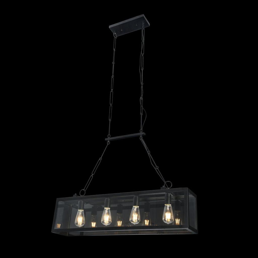 Подвесной светильник Maytoni Delphi T354-PL-04-B, 4xE27x60W, черный, прозрачный, металл, стекло - фото 3