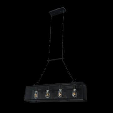 Подвесной светильник Maytoni Delphi T354-PL-04-B, 4xE27x60W, черный, прозрачный, металл, стекло - миниатюра 4