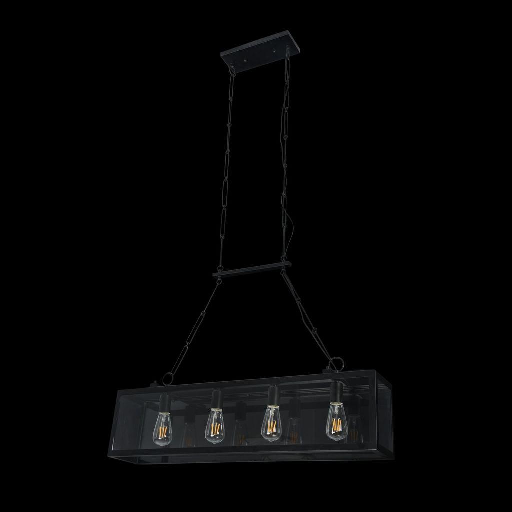 Подвесной светильник Maytoni Delphi T354-PL-04-B, 4xE27x60W, черный, прозрачный, металл, стекло - фото 4