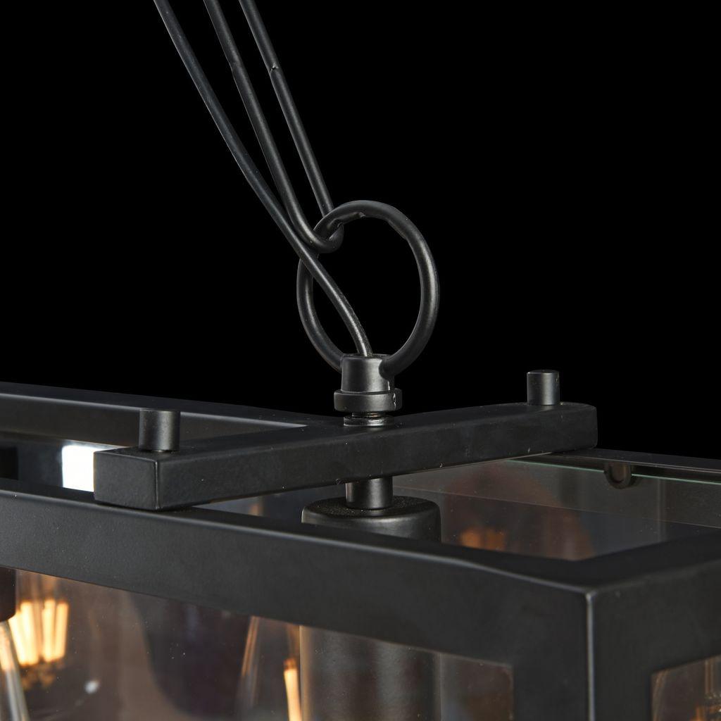 Подвесной светильник Maytoni Delphi T354-PL-04-B, 4xE27x60W, черный, прозрачный, металл, стекло - фото 5