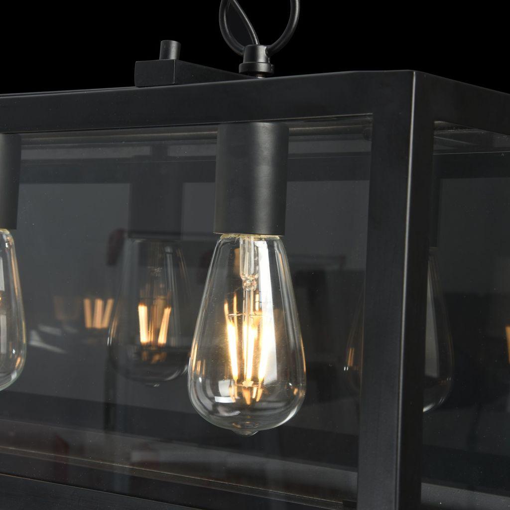 Подвесной светильник Maytoni Delphi T354-PL-04-B, 4xE27x60W, черный, прозрачный, металл, стекло - фото 6