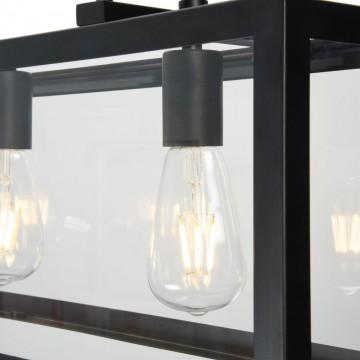 Подвесной светильник Maytoni Delphi T354-PL-04-B, 4xE27x60W, черный, прозрачный, металл, стекло - миниатюра 7