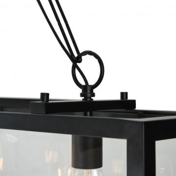 Подвесной светильник Maytoni Delphi T354-PL-04-B, 4xE27x60W, черный, прозрачный, металл, стекло - миниатюра 8