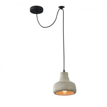 Подвесной светильник Maytoni Broni T433-PL-01-GR, 1xE27x40W, черный, серый, металл, бетон
