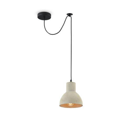 Подвесной светильник Maytoni Broni T434-PL-01-GR, 1xE27x60W, черный, серый, металл, бетон