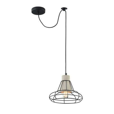 Подвесной светильник Maytoni Gosford T435-PL-01-GR, 1xE27x40W, черный, серый, металл, бетон
