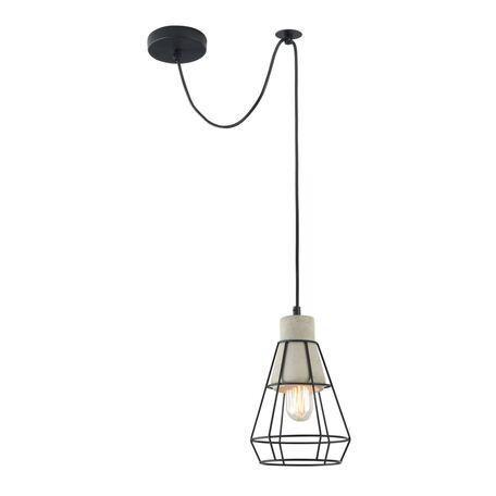 Подвесной светильник Maytoni Gosford T436-PL-01-GR, 1xE27x60W, черный, серый, металл, бетон