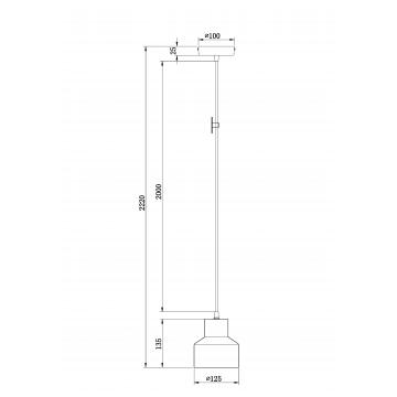 Схема с размерами Maytoni T437-PL-01-GR