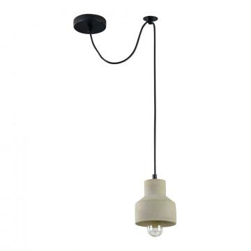 Подвесной светильник Maytoni Broni T437-PL-01-GR, 1xE27x60W, черный, серый, металл, бетон - миниатюра 2