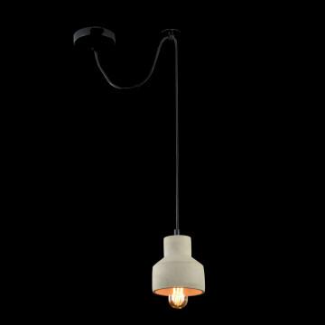 Подвесной светильник Maytoni Broni T437-PL-01-GR, 1xE27x60W, черный, серый, металл, бетон - миниатюра 4