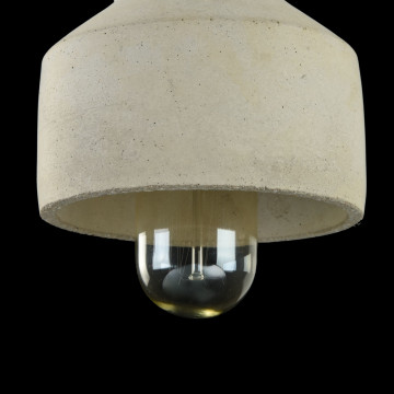 Подвесной светильник Maytoni Broni T437-PL-01-GR, 1xE27x60W, черный, серый, металл, бетон - миниатюра 6