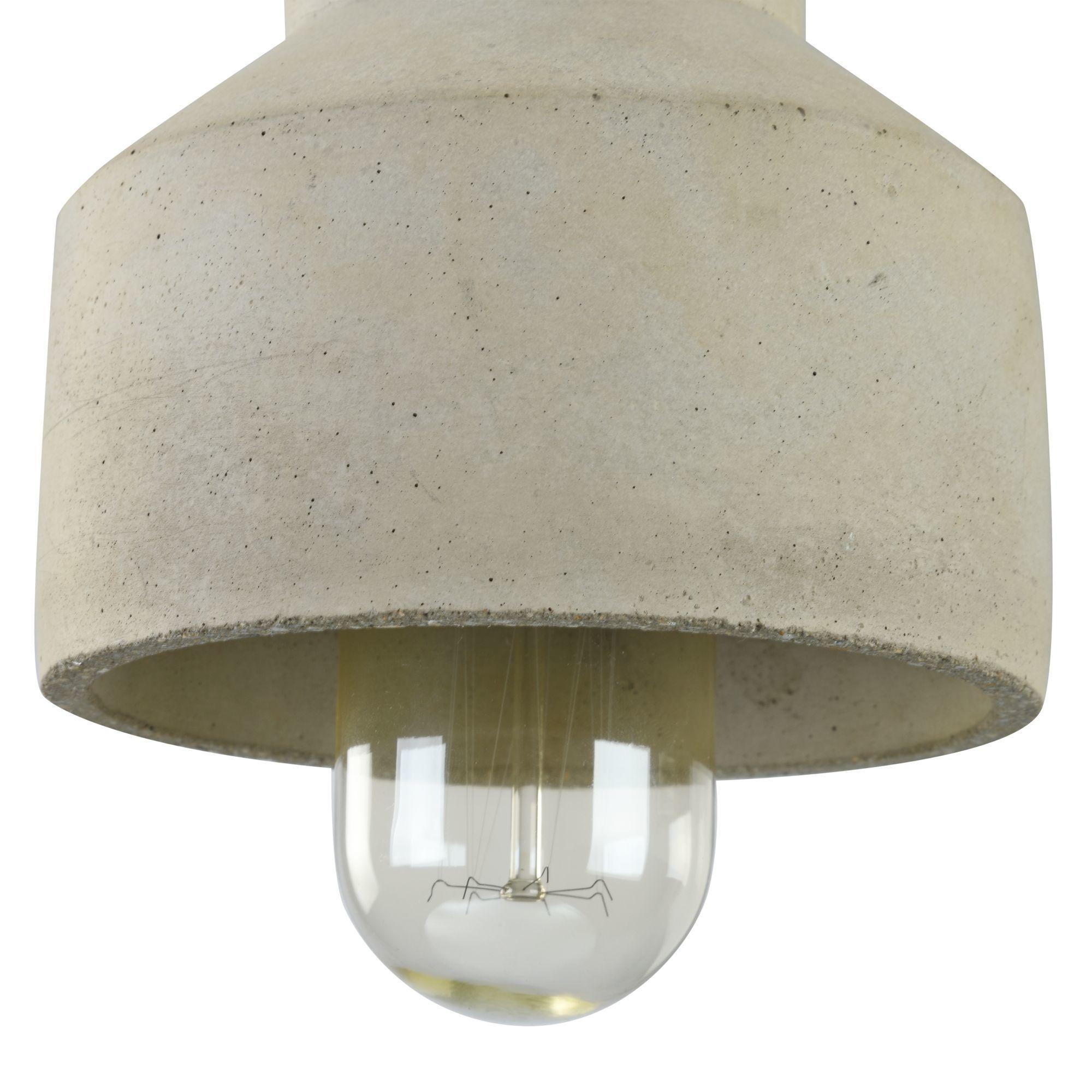 Подвесной светильник Maytoni Broni T437-PL-01-GR, 1xE27x60W, черный, серый, металл, бетон - фото 7
