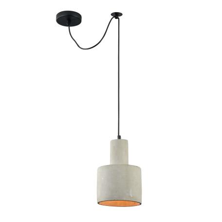 Подвесной светильник Maytoni Broni T439-PL-01-GR, 1xE27x40W, черный, серый, металл, бетон