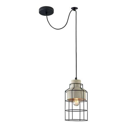Подвесной светильник Maytoni Loft Gosford T441-PL-01-GR, 1xE27x60W, черный, серый, металл, металл с бетоном