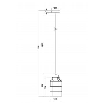Схема с размерами Maytoni T441-PL-01-GR