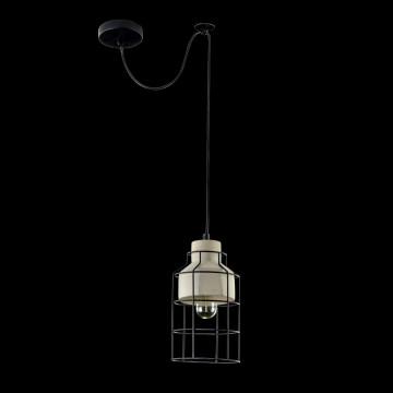 Подвесной светильник Maytoni Gosford T441-PL-01-GR, 1xE27x60W, черный, серый, металл, бетон - миниатюра 2