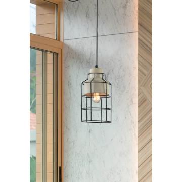 Подвесной светильник Maytoni Gosford T441-PL-01-GR, 1xE27x60W, черный, серый, металл, бетон - миниатюра 5
