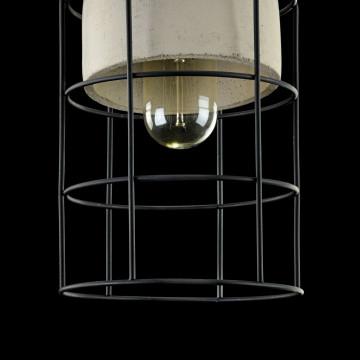 Подвесной светильник Maytoni Loft Gosford T441-PL-01-GR, 1xE27x60W, черный, серый, металл, металл с бетоном - миниатюра 6