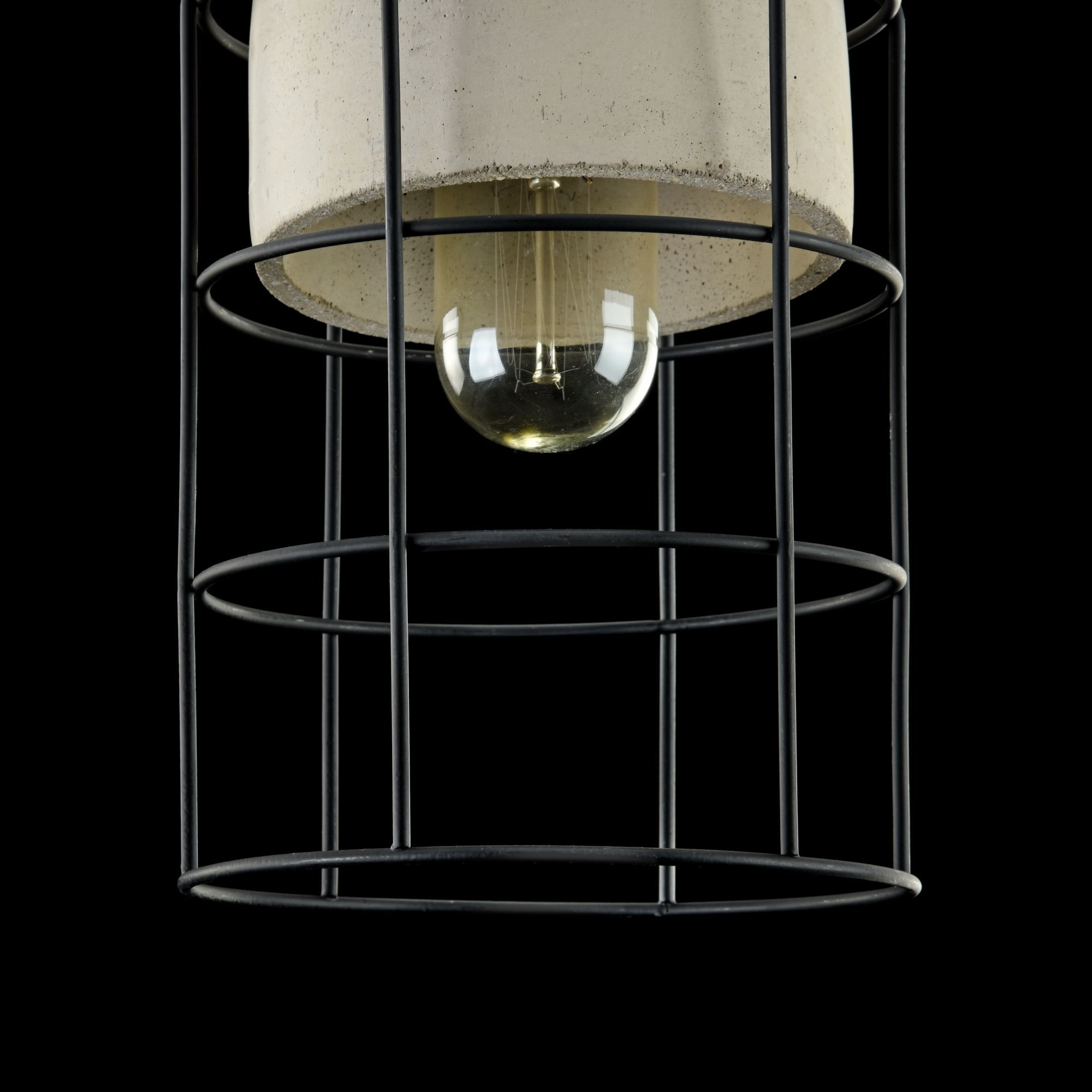 Подвесной светильник Maytoni Gosford T441-PL-01-GR, 1xE27x60W, черный, серый, металл, бетон - фото 6