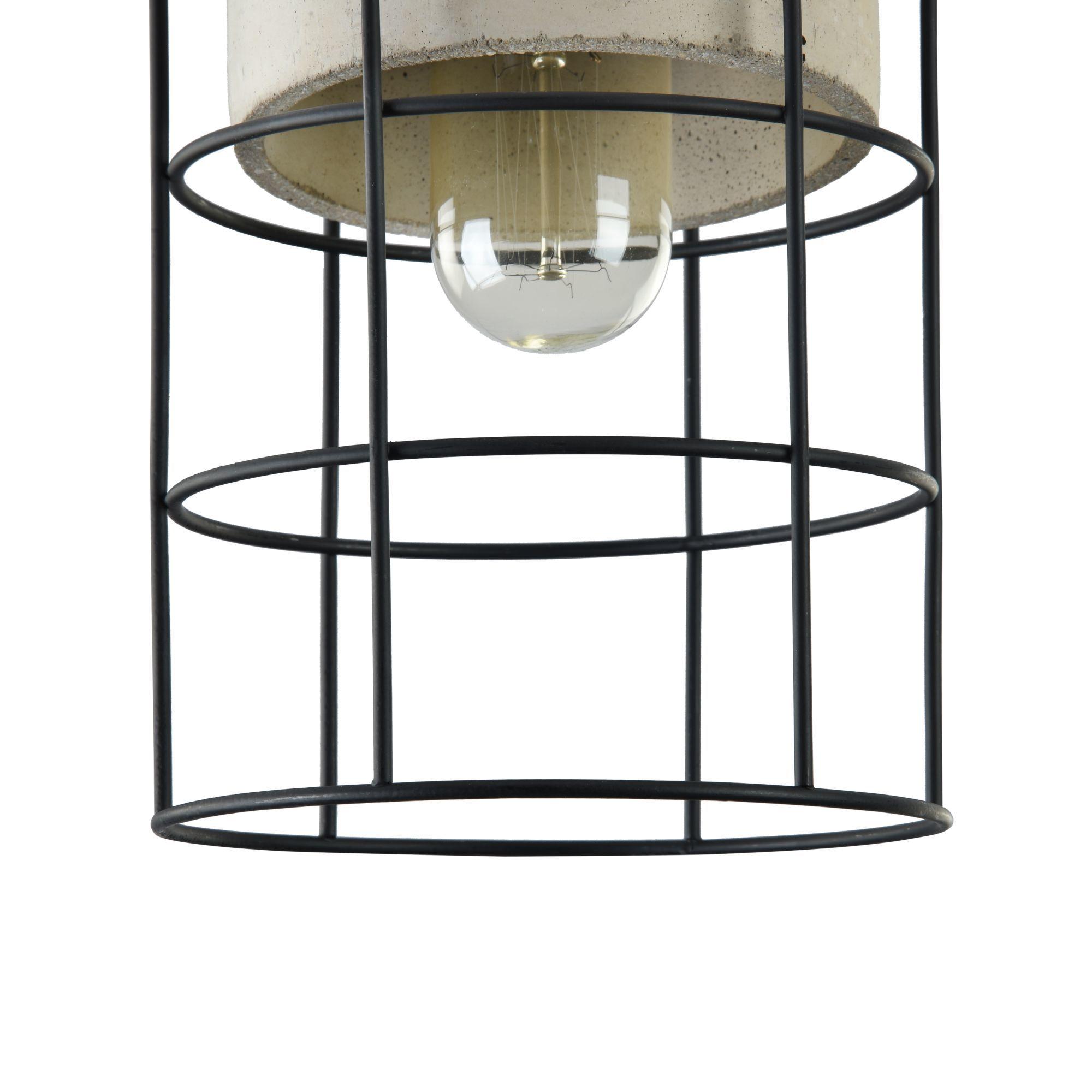 Подвесной светильник Maytoni Gosford T441-PL-01-GR, 1xE27x60W, черный, серый, металл, бетон - фото 7
