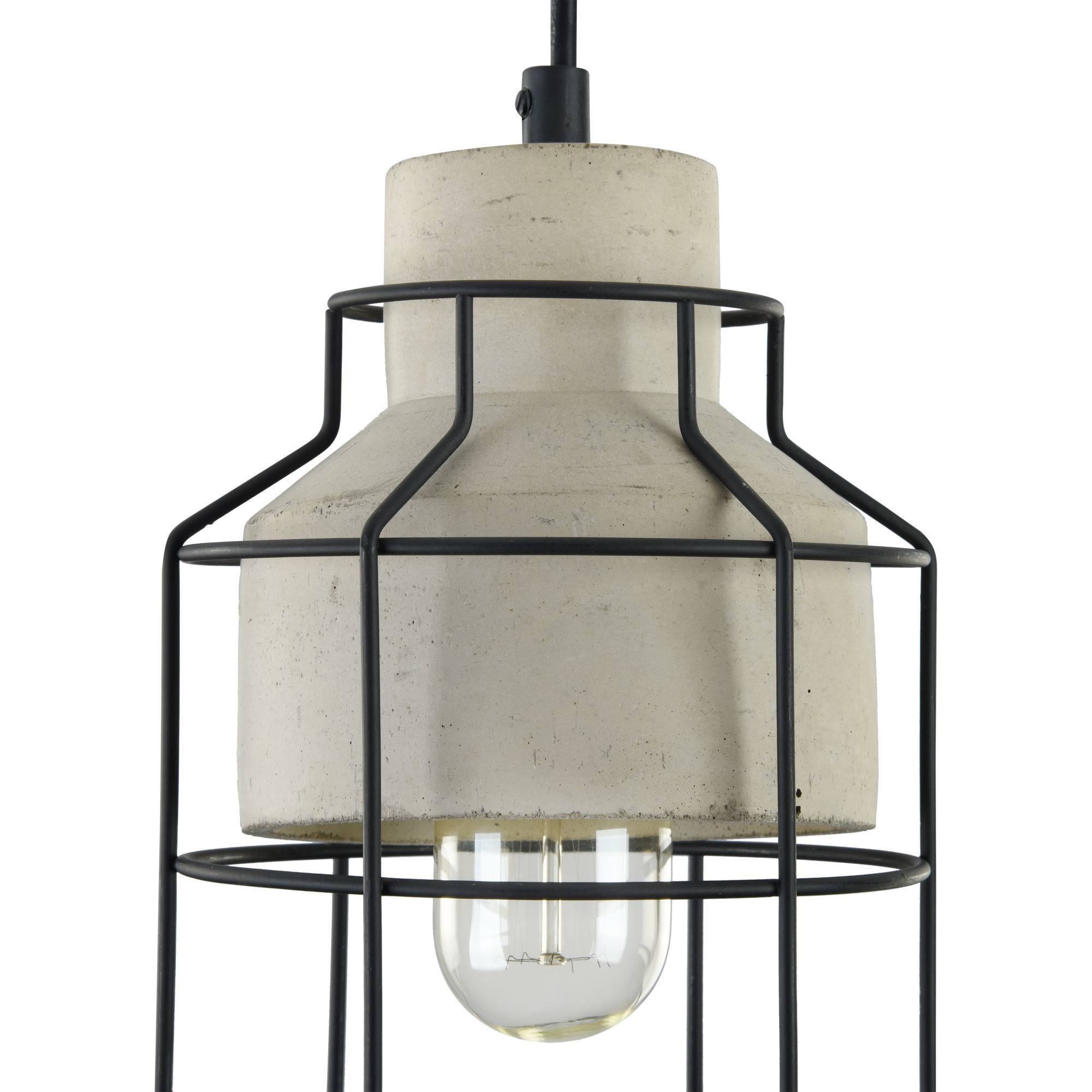Подвесной светильник Maytoni Gosford T441-PL-01-GR, 1xE27x60W, черный, серый, металл, бетон - фото 9