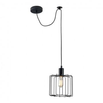 Подвесной светильник Maytoni Monza T442-PL-01-B, 1xE27x40W, черный, металл