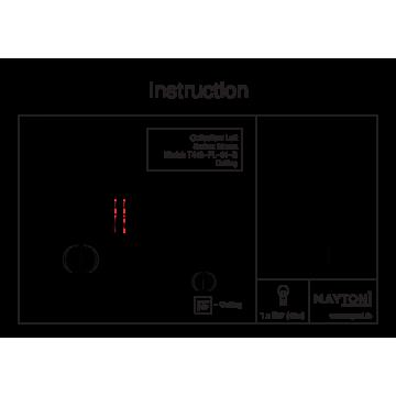 Схема с размерами Maytoni T443-PL-01-B