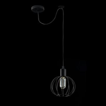 Подвесной светильник Maytoni Monza T443-PL-01-B, 1xE27x40W, черный, металл - миниатюра 3