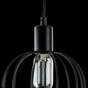 Подвесной светильник Maytoni Monza T443-PL-01-B, 1xE27x40W, черный, металл - миниатюра 5