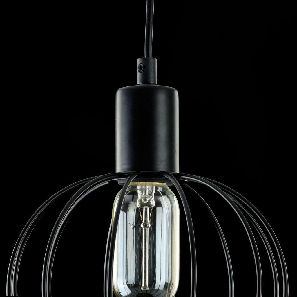 Подвесной светильник Maytoni Monza T443-PL-01-B, 1xE27x40W, черный, металл - фото 5