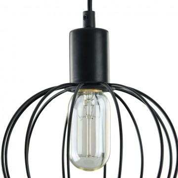 Подвесной светильник Maytoni Monza T443-PL-01-B, 1xE27x40W, черный, металл - миниатюра 7