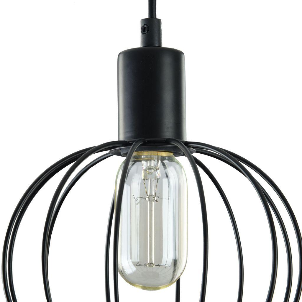Подвесной светильник Maytoni Monza T443-PL-01-B, 1xE27x40W, черный, металл - фото 7